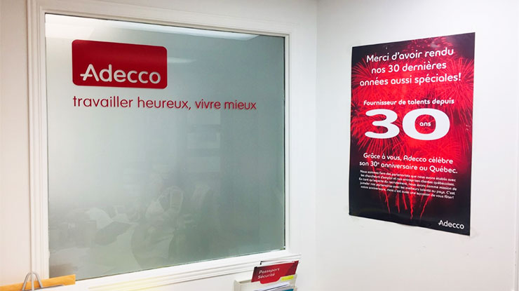 Adecco Longueuil reception